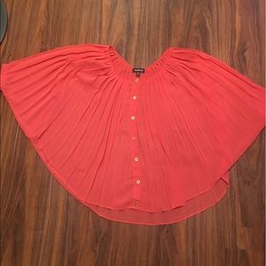 Bebe Neon peach sheer top. Fits XS - M